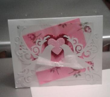 Blank Valentine Card with Envelope