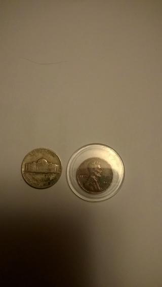 1945 Wheat-Ear Penny 1959 Nickel