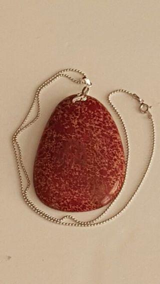 925 purple sea sediment Jasper and 925 Italy Charles Garnier ball dot Linked necklace very nice
