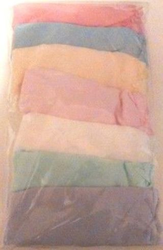 Little Girls' Pastel Cotton Briefs 7-pk 6-6X Size Small Unbranded