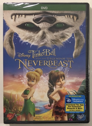 Disney - Tinker Bell and the Legend of the NeverBeast (DVD, 2015) - Brand New Factory Sealed