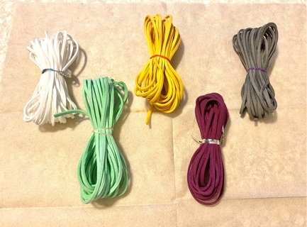 new.5 colors FAUX suede/leather 5ish yards each color