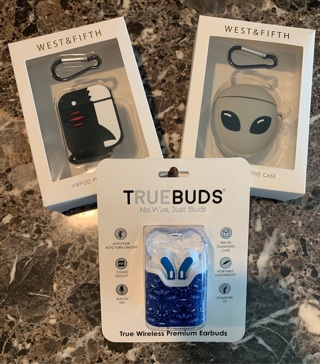 Truebuds Wireless Earbuds & shark & alien earbuds cases NEW