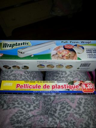 Wraptastic as seen on tv w/ plastic wrap included.