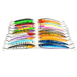 Fast Delivery - New 20Pcs Mixed Models Fishing Lures 20 Clolor Mix Minnow #3