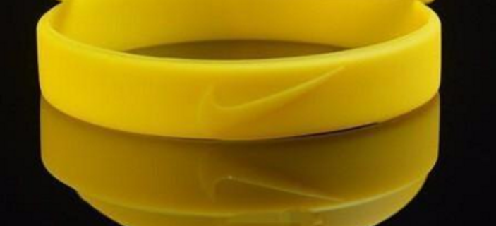 1 baskteball sports wristband bracelet yellow NIKE check symbol just do it theme GIN