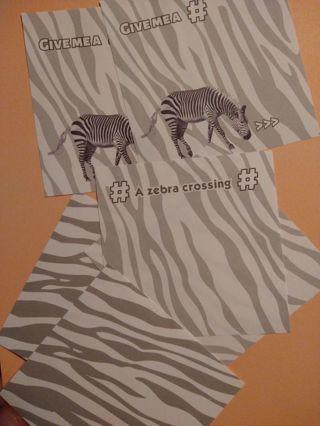 Zebra Memo Sheets