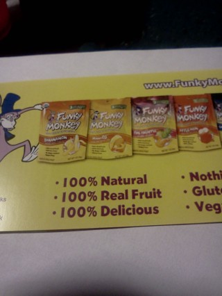 """FREE FUNKY MONKEY FRUIT SNACKS ( ANY FLAVOR) $2.59 VALUE PLUS EXTRA MYSTERY GIFTS!!!"""""""