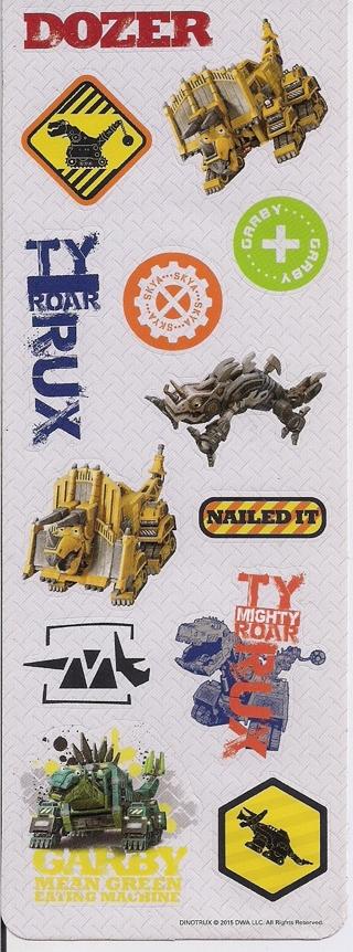 Brand New Sheet Of Dino-Trucks Stickers