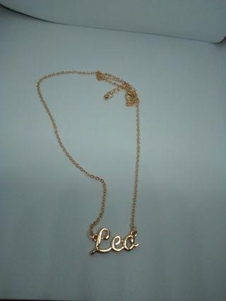 Leo gold zodiac chain