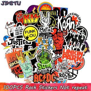 100 PCS Rock Sticker Music Retro Band Graffiti JDM Stickers to DIY Guitar Motorcycle Laptop Luggag