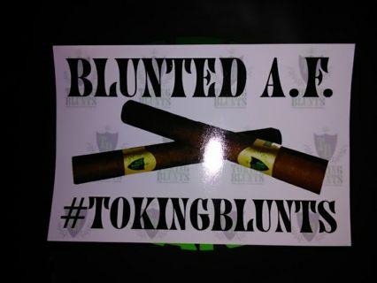 Blunted A.F. Sticker