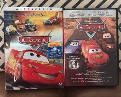 Free Like New Cars Disney Pixar Movie In Sleeve Cars Extra Dvd 2 Cases Dvd Listia Com Auctions For Free Stuff