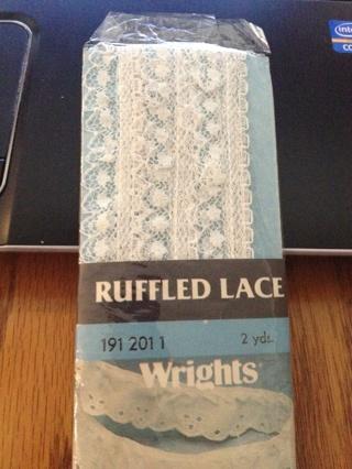 NIP White Ruffled Lace