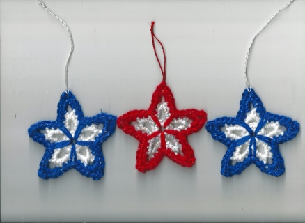Handcrocheted 4th of July Stars - 4