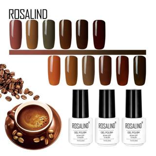 ROSALIND 7ML Brown Red Colors Gel Nail Polish Set For Manicure Soak Off Semi Permanent White Gel V