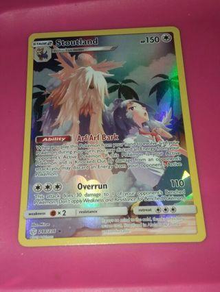 Secret Rare Holo Full Art Stoutland 248/236 Cosmic Eclipse Pokemon Card NM-MINT