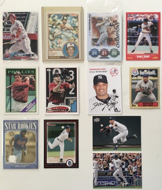 Huge Baseball Card Lot of 30 - Mike Trout, Hank Aaron, ARod, Barry Bonds, Ichiro and more!