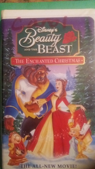 vhs beauty and the beast the enchanted christmas free shipping