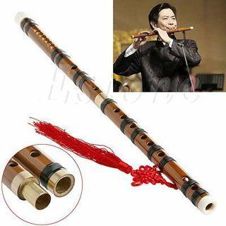 Traditional Chinese Musical Instrument Handmade Dizi Bamboo Flute in G Key