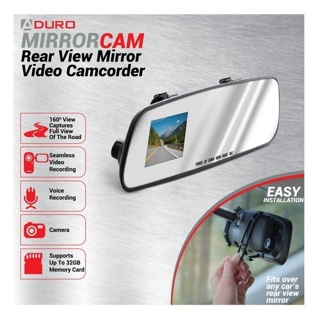 Rear View Mirror with Built-in front DVR Video Camcorder Dash Cam