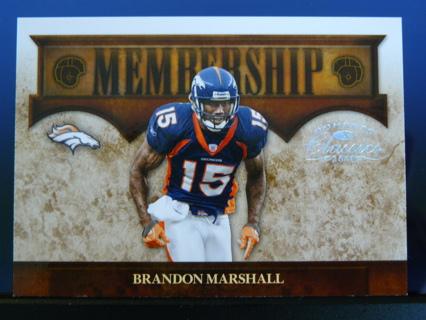"2008 Donruss Classics ""Membership Silver"" Brandon Marshall (Broncos) S/N #136/250"