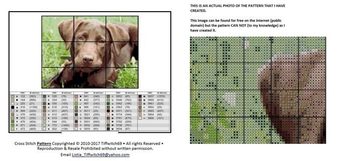 Chocolate Lab Puppy Cross Stitch Patterns ***Winners Choice***