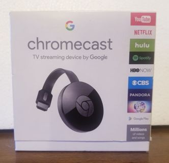 USED> google chromecast tv streaming device 2ND GEN > works and looks good. READ ALL INFO