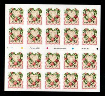 Scott #3274 33c Victorian Love - Pane [20] MNH
