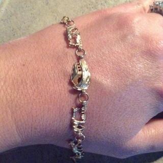 10K Real gold link bracelet