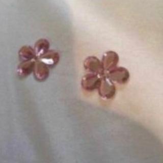 Pink flower flatbacks
