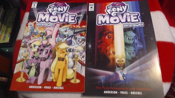 2 New My Little Pony the Movie Comic Books