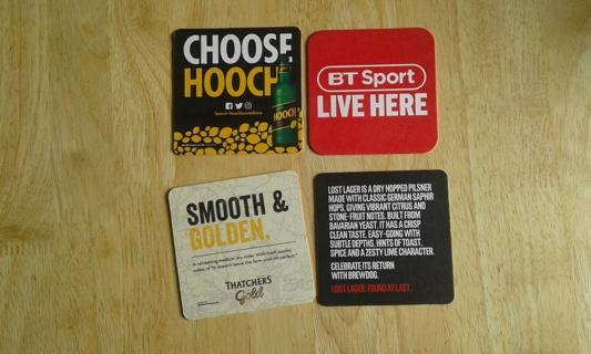 #1 4 beer mats/coasters