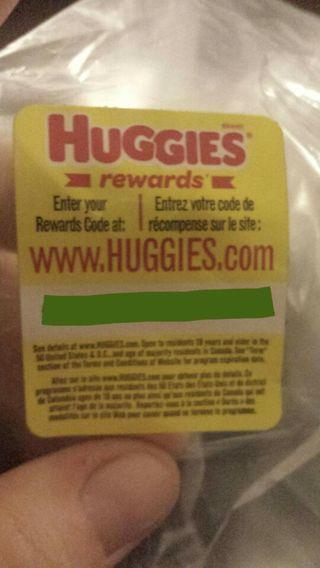 Huggies Rewards points ( 2 codes )