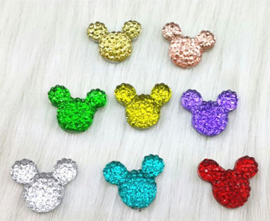 MIX 10pcs Resin Minnie/mickey flatback rhinestone Scrapbooking for phone/wedding/craft