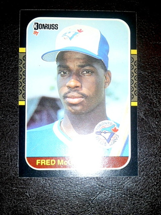 Free 1987 Fred Mcgriff Rookie Card Donruss 621 Mint Free