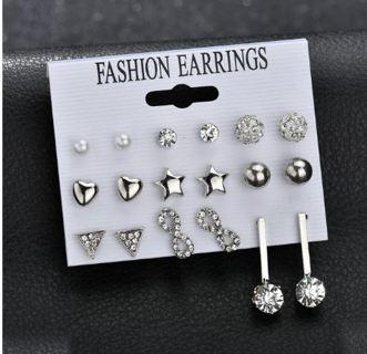 New Style Symbol Stud Earrings Set for Women Gift E2623