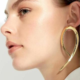 RscvonM New Chic Punk Gold Colour  Filled Polygon Drop Earrings For Women Hollow Geometry Big Earr