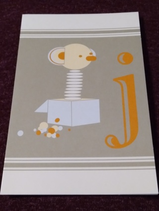 Alphabet Greeting Card - Jack In The Box (j)