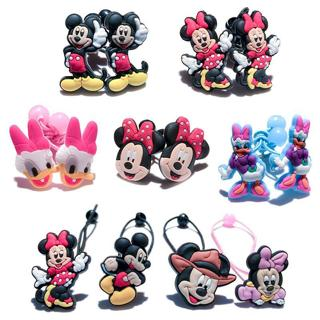 Hot sale 1Pair/Lot Lovely Mickey Minnie Baby Girls Elastic Hair Bands Hairband Cartoon Headwear Ch