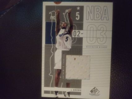 Progressive lot 2002 kwame Brown jersey card over 21 days