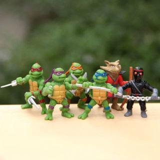 6PCs Teenage Mutant Ninja Turtles TMNT Figures Toy Chlid Kids Toys Collection