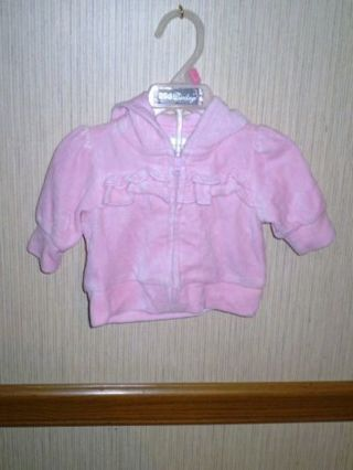 3 BABY GIRLS HOODIE JACKETS 0-3MTHS