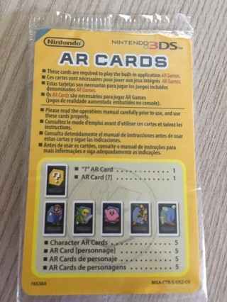 3DS AR Cards (total of 6)