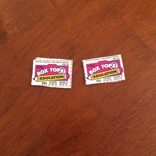 TWO (2) BOXTOPS FOR EDUCATION