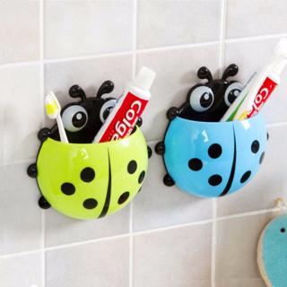 Pop Lovely Cup Pocket Bathroom Toothbrush Stuff Ladybug Wall Suction Holder