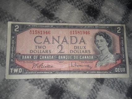 1954 CANADA $2