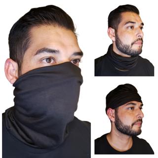New Black Face Mask Baclava Neck Gaiter Biker Tube Wrap Head Bandana Cover Scarf