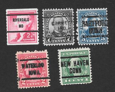 Used mix of Pre-Cancel Stamps # 4