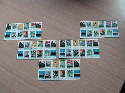 """100 Forever stamps -- up for """"gin"""" auction is a hundred WPA Poster stamps !!!!"""